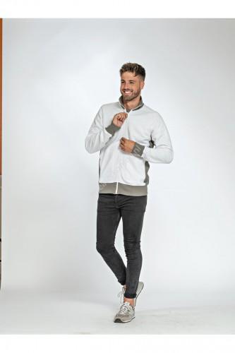 Unimodel sweater met rits contrast (LEM 4725) - lem4725