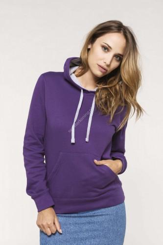 Damesmodel Hoodedsweater contrast (K465) - k465