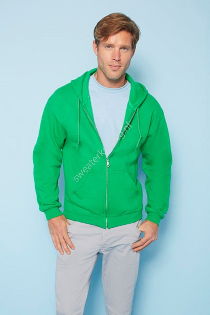 Unimodel Hooded sweater met rits (GIL18600) - gildan 18600