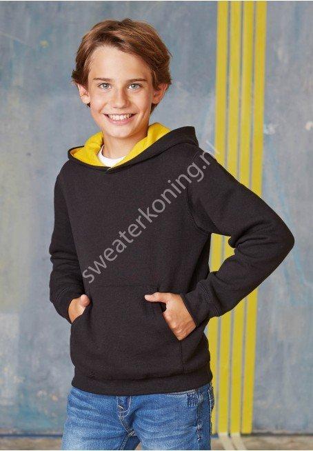 Kindermodel Hoodedsweater contrast (K453) - kariban 453