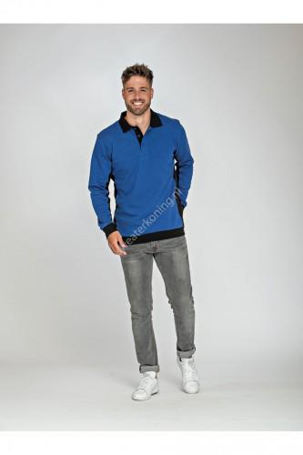 Unimodel polosweater contrast (LEM 4700) - lem4700