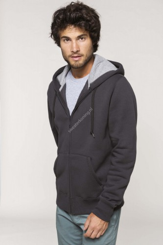 Unimodel Hoodedsweater met rits contrast (K444) - k444